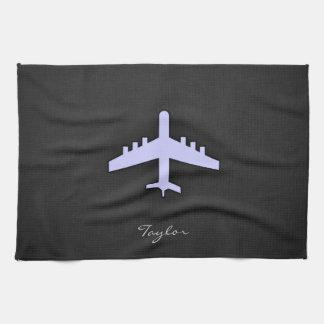 Lavender Blue Airplane Towels