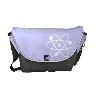 Lavender Blue Atom Courier Bag