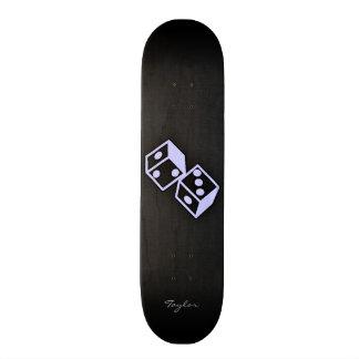 Lavender Blue Casino Dice Skate Deck