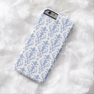 Lavender Blue Damask iPhone 6 case Barely There iPhone 6 Case