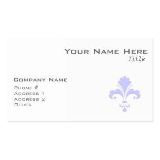 Lavender Blue Fleur-de-lis Business Card Template