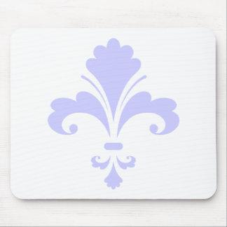 Lavender Blue Fleur-de-lis Mouse Pad