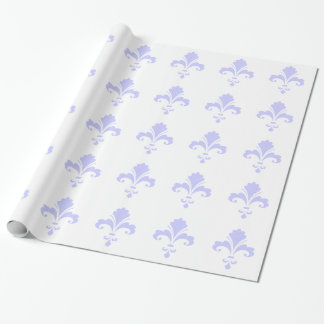 Lavender Blue Fleur-de-lis Wrapping Paper