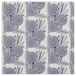 Lavender-Blue Floral Spray Fabric