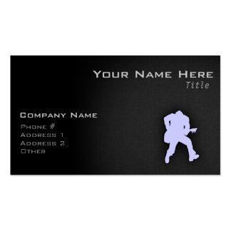 Lavender Blue Guitar Player Pack Of Standard Business Cards
