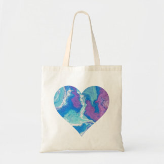 Lavender Blue Heart Shopping Tote