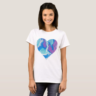 Lavender Blue Heart T-Shirt