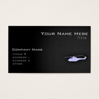 Lavender Blue Helicopter Business Card