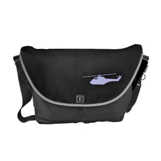 Lavender Blue Helicopter Courier Bags