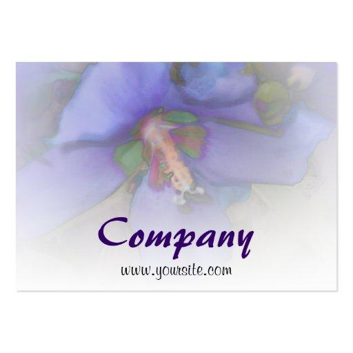 Lavender Blue Hibiscus Business Card Templates