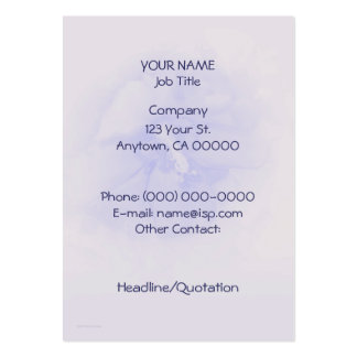 Lavender Blue Hibiscus Pack Of Chubby Business Cards