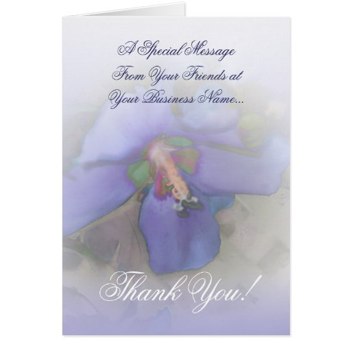 Lavender Blue Hibiscus Greeting Card