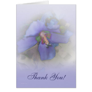 Lavender Blue Hibiscus Greeting Card