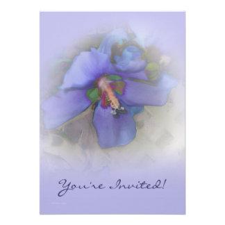 Lavender Blue Hibiscus Invite