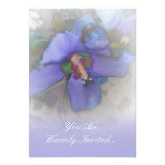 Lavender Blue Hibiscus Invitation