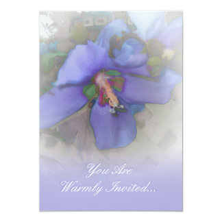 Lavender Blue Hibiscus Invitation