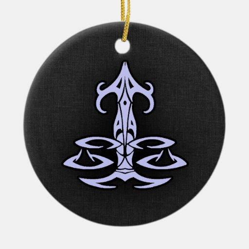 Lavender Blue Libra Ornament