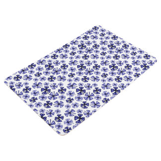 Lavender-Blue Lucky Shamrock Clover Floor Mat
