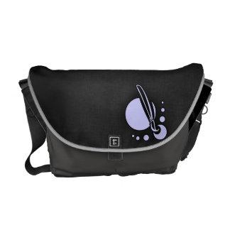 Lavender Blue Paintbrush Messenger Bag