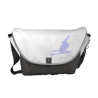 Lavender Blue Snow Skiing Courier Bag