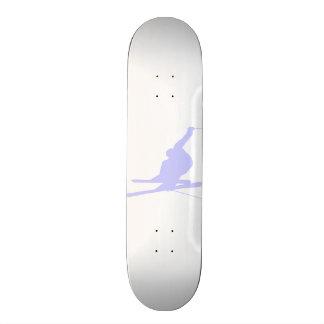 Lavender Blue Snow Skiing Skate Board