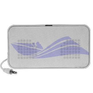 Lavender Blue Speed Boat iPhone Speakers