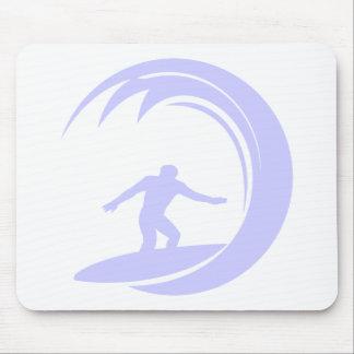Lavender Blue Surfing Mouse Pad