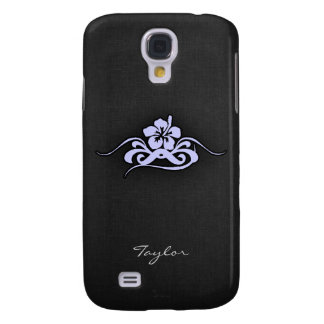 Lavender Blue Tropical Hibiscus Samsung Galaxy S4 Cover