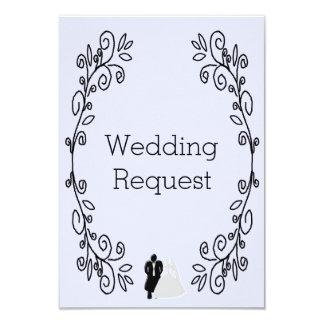 Lavender Blush Damask Maid Of Honour Request 9 Cm X 13 Cm Invitation Card