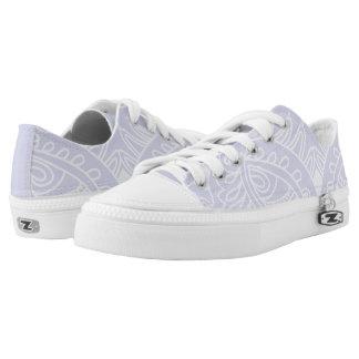 Lavender, Boho Pattern Printed Shoes