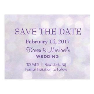 Lavender Bokeh | Save the Date Postcard