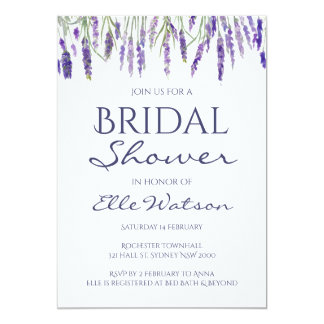 Lavender Bridal Shower Invitation, Wedding Card
