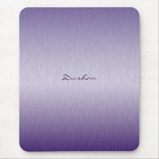 Lavender Brushed Metal Mouse Pad