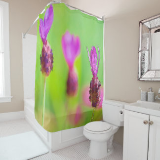 Lavender Bud Painting Shower Curtain