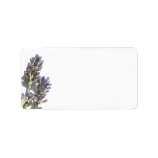 Lavender Bunch Blank Address Label