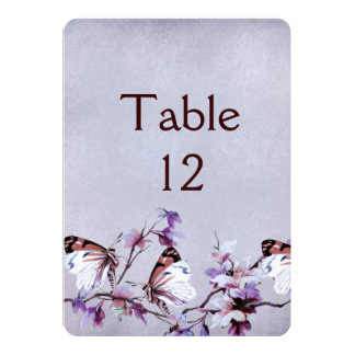 Lavender Butterfly Dream Table card 13 Cm X 18 Cm Invitation Card