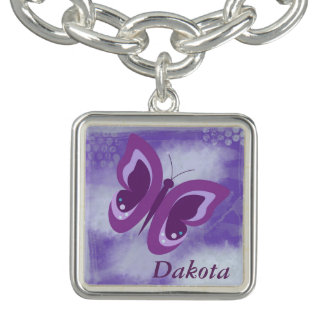 Lavender Butterfly Grunge Personalized