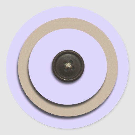 Lavender Buttons & Brackets Envelope Seals Stickers