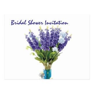 Lavender Cheap Inexpensive Bridal Shower Party Postcard