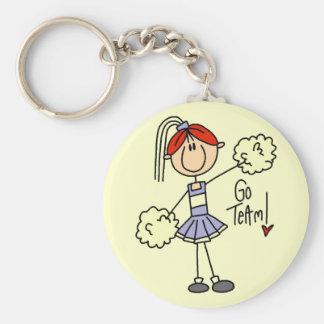 Lavender Cheerleader Tshirts and Gifts Key Ring