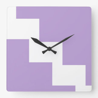 Lavender Chevron Wall Clock