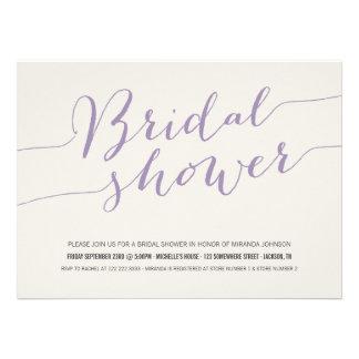 Lavender Chic Bridal Shower Invitations