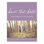 Lavender Chic Photo Save The Date Post Cards