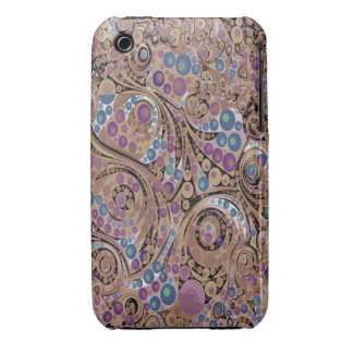 Lavender Chocolate Abstract Case-Mate iPhone 3 Cases