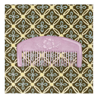 Lavender Comb on Chocolate Background Acrylic Print