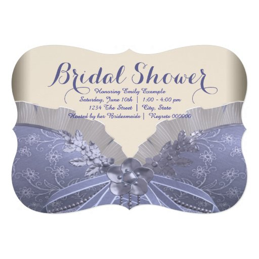 Lavender Corset Bridal Shower Custom Invitation