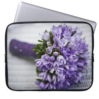 Lavender Crocus Bridal Bouquet Computer Sleeves