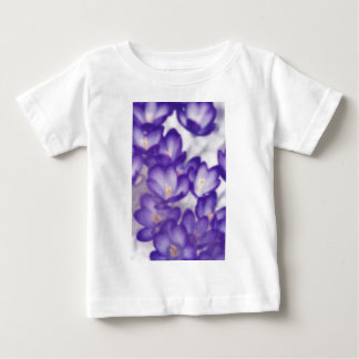 Lavender Crocus Flower Patch Baby T-Shirt