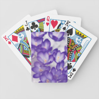 Lavender Crocus Flower Patch Bicycle Playing Cards
