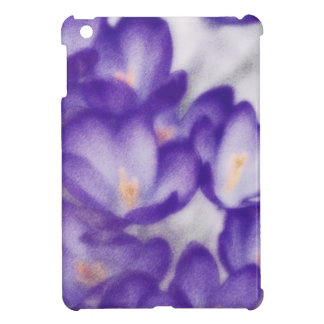 Lavender Crocus Flower Patch Cover For The iPad Mini